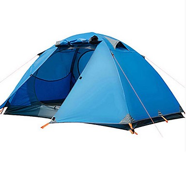 BSwolf 3-4 persons Tent Double Camping Tent One Room Fold Tent Waterproof Rain-Proof Dust Proof Foldable for Camping / Hiking >3000mm