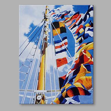 Pintura a Óleo Pintados à mão - Abstrato Artistíco / Abstracto / Retro Tela de pintura / Lona esticada