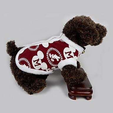 Cachorro Colete Roupas para Cães Carta e Número Algodão Ocasiões Especiais Para animais de estimação Homens / Mulheres Casual / Ano Novo