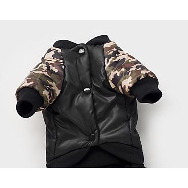 Dog Coat Dog Clothes Keep Warm Letter & Number Black