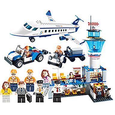 GUDI Carros de Brinquedo / Blocos de Construir 652 pcs Aeronave / Aeroporto Unisexo Dom