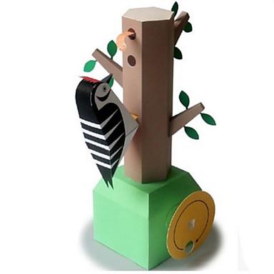 Quebra-Cabeças 3D Maquetes de Papel Brinquedos de Montar Pássaro Pica-pau Faça Você Mesmo Clássico Crianças Unisexo Dom