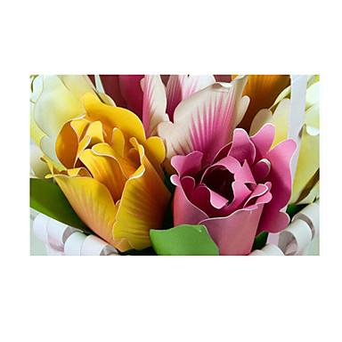 3D-puslespill Puslespill Papirkunst Modellsett Tulipan Blomst simulering GDS Klassisk Barne Unisex Gave