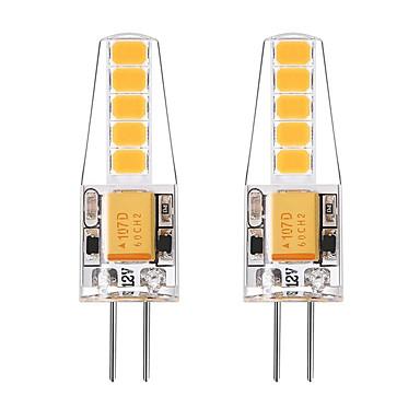 BRELONG® 2pcs 2W 250lm G4 Luminárias de LED  Duplo-Pin T 10 Contas LED SMD 2835 Branco Quente Branco 12V