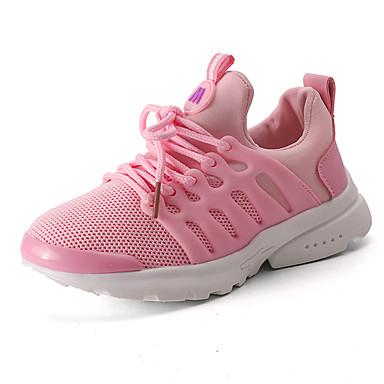 Girls' Sneakers First Walkers Light Soles Summer Fall Tulle Casual Outdoor Low Heel Black Ruby Blushing Pink Under 1in