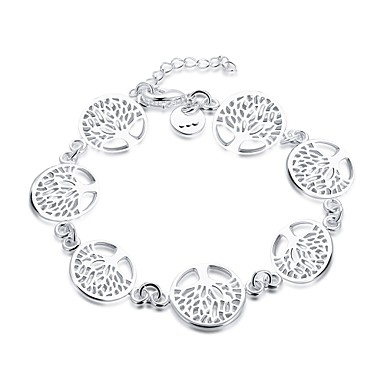 Women's Silver Plated Bohemian Tree of Life Chain Bracelet Charm Bracelet - Vintage Bohemian Natural Friendship Movie Jewelry Turkish