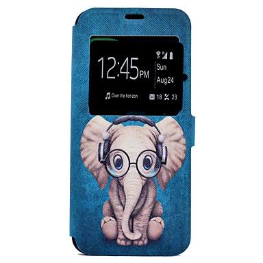 Capinha Para Samsung Galaxy S8 Plus / S8 Porta-Cartão / Com Suporte / Estampada Capa Proteção Completa Desenho Animado / Elefante Rígida PU Leather para S8 Plus / S8 / S7 edge