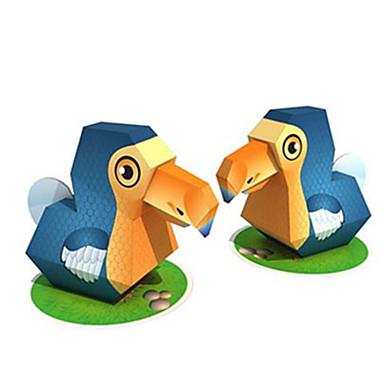 voordelige 3D-puzzels-3D-puzzels Bouwplaat Modelbouwsets Vogel Dieren DHZ Hard Kaart Paper Klassiek Kinderen Unisex Jongens Speeltjes Geschenk