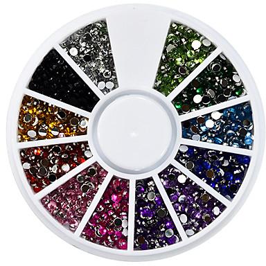 1 Cristal Novas Bijuterias Arte Deco/Retro Jóias de unha Glitter & Poudre Artigos DIY Efeito 3D Meninas e Jovens Mulheres Glitters Luxo