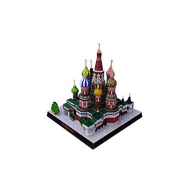 Quebra-Cabeças 3D / Maquetes de Papel / Brinquedos de Montar Construções Famosas / Igreja Faça Você Mesmo Clássico Unisexo Dom