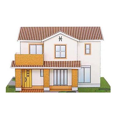 Quebra-Cabeças 3D Maquetes de Papel Artesanato de Papel Brinquedos de Montar Construções Famosas Casa Arquitetura Faça Você Mesmo Clássico