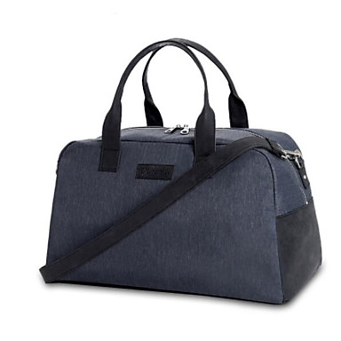 Unisex Travel Bag Polyester All Seasons Casual Outdoor Round Zipper Dark Gray Sillver Gray