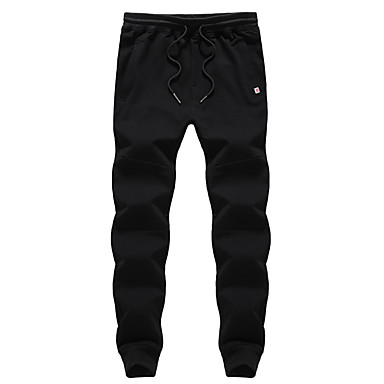 Men's Running Pants Quick Dry Breathable Casual/Daily Pants/Trousers/Overtrousers for Running/Jogging Exercise & Fitness Cotton Polyester