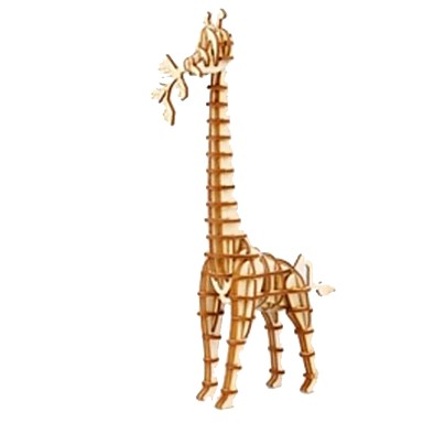 3D építőjátékok Fejtörő Wood Model Állatok DIY Fa Gyermek Uniszex Ajándék