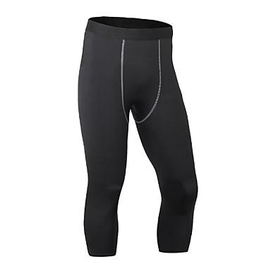 Homens Leggings de Corrida Leggings de Ginástica Fitness, Corrida e Yoga Secagem Rápida Design Anatômico Respirável Leve Esportes Shorts