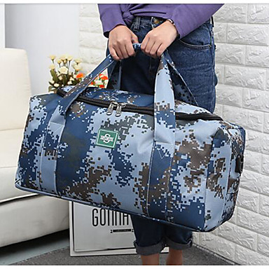 Unisex Travel Bag Oxford Cloth Polyester All Seasons Casual Outdoor Rectangle Zipper Ocean Blue Military Green