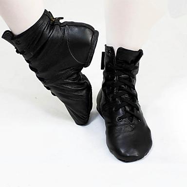cheap Jazz Shoes-Women's Jazz Shoes Synthetics Flat / Boots Flat Heel Customizable Dance Shoes Black / Practice / EU39