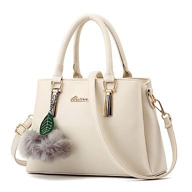 Women's Bags PU(Polyurethane) Tote Pattern / Print / Printing / Zipper LightBlue / Fuchsia / Wine