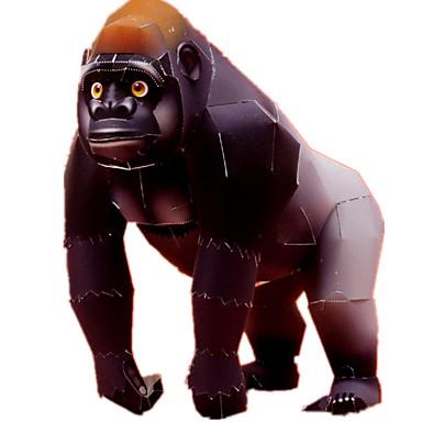 voordelige 3D-puzzels-3D-puzzels Bouwplaat Modelbouwsets Aap Gorilla Dieren DHZ Simulatie Klassiek Unisex Speeltjes Geschenk