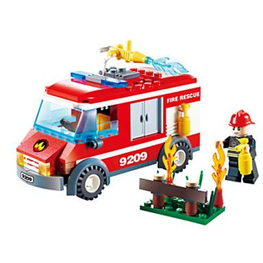 Carros de Brinquedo Blocos de Construir Quadrada Caminhões de Bombeiros Caminhão de Bombeiro Para Meninos Unisexo Brinquedos Dom