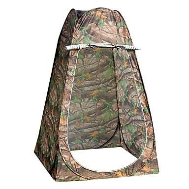 1 사람 텐트 싱글 캠핑 텐트 투 룸 접이식 텐트 수분 방지 방수 비 방지 통기성 용 하이킹 캠핑 야외 여행 2000-3000 mm 유리섬유 옥스퍼드 - 120*120*190 CM