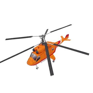Quebra-Cabeças 3D Artesanato de Papel Aeronave Helicóptero Simulação Faça Você Mesmo Cartão de Papel Duro Helicóptero Crianças Para