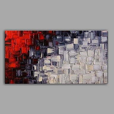 Oil Painting Hand Painted - Abstract Abstract Canvas