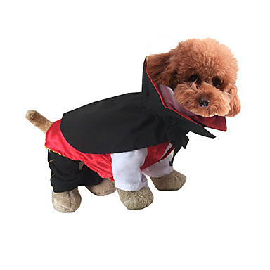 Cat Dog Costume Dog Clothes Halloween Cartoon White Black Red Green Jade Costume For Pets