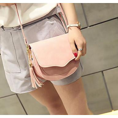Women's Bags PU Crossbody Bag for Casual Outdoor All Seasons Blue Black Blushing Pink