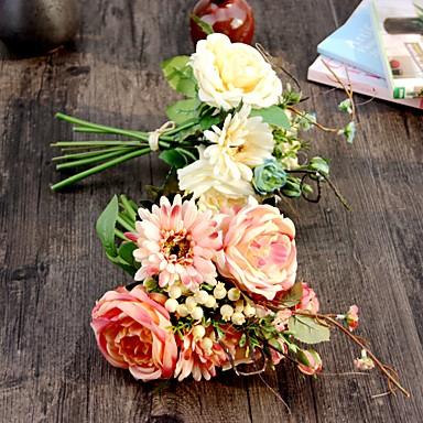 1 Deler 1 Gren Silke Polyester Roser Bordblomst Kunstige blomster