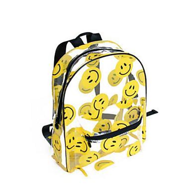 Naisten Kassit PVC Backpack varten Kausaliteetti Kaikki vuodenajat Keltainen