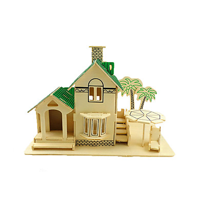 3D Puzzles Jigsaw Puzzle Pegged Puzzles Wood Model Model Building Kit Chinese Architecture 3D Simulation Wooden Wood Children's Gift