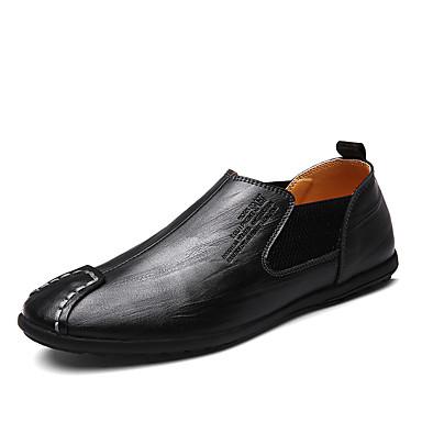 Férfi cipő Bőr Tavasz / Ősz Kényelmes Papucsok & Balerinacipők Fekete / Világosbarna / Sötétbarna