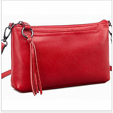 Women's Bags Cowhide Crossbody Bag for Casual Outdoor All Seasons Blue Red
