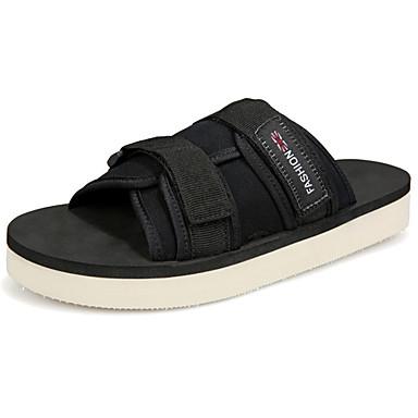 Homens sapatos Couro Ecológico Primavera / Outono Conforto Sandálias Verde / Azul / Castanho Escuro