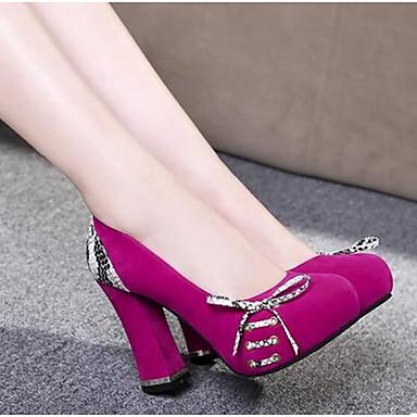 Naisten Kengät Nupukkinahka PU Kevät Comfort Korkokengät varten Kausaliteetti Musta Punainen Sininen
