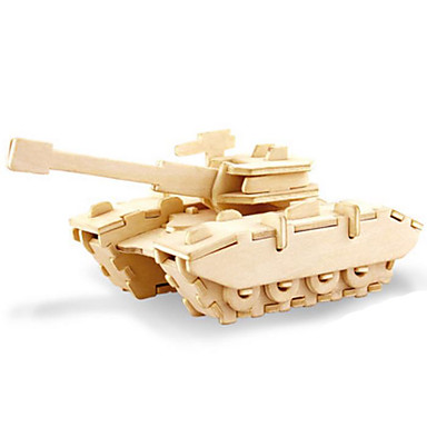 Toy Cars 3D Puzzles Jigsaw Puzzle Wood Model Dinosaur Tank Plane / Aircraft 3D Animals DIY Wood Classic Unisex Gift