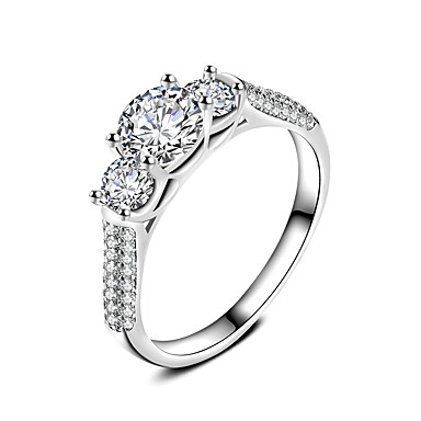 Women's Ring Jewelry Circular Classic Circle Friendship Euramerican Simple Style Silver Plated Round Jewelry Wedding Office / Career