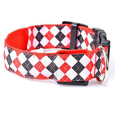 Rodents Dog Collar Bark Collar Portable Safety Adjustable Geometry Fabric Red Green