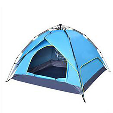 3-4 persons Tent Camping Tent Automatic Tent Rain-Proof for Camping / Hiking Other Material CM