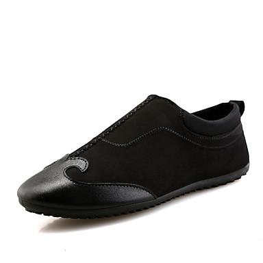 Homens sapatos Couro Ecológico Jeans Primavera Verão Solados com Luzes Mocassins e Slip-Ons Combinação para Casual Preto Cinzento Vermelho