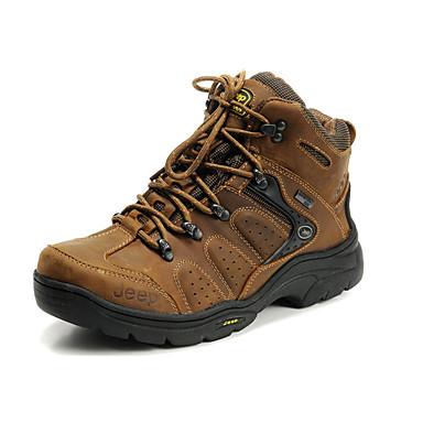 Men's Shoes Real Leather Cowhide Fall Winter Comfort Snow Boots Athletic Shoes Hiking Shoes Lace-up For Athletic Casual Outdoor Office &