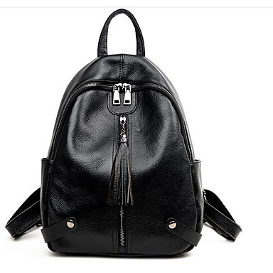 Women Bags All Seasons Cowhide Backpack for Casual Blue Black Red