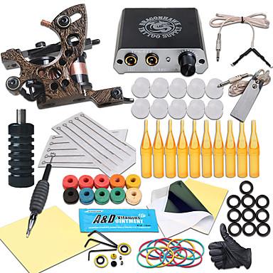 Tattoo Machine Professional Tattoo Kit - 1 pcs Tattoo Machines, Professional Mini power supply 1 cast iron machine liner & shader