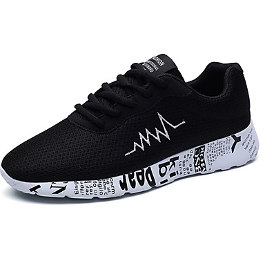 Men's Shoes PU Spring Fall Comfort Athletic Shoes for Outdoor Gold Black Gray