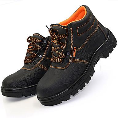 Miesten kengät Tekonahka Kevät Syksy Comfort Bootsit Solmittavat varten Urheilullinen Kausaliteetti ulko- Musta