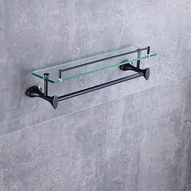 Prateleira de Banheiro Alta qualidade Moderno / Contemporâneo Metal 1 Pça. - Banho do hotel Montagem de Parede