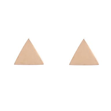 Mulheres Brincos Curtos Jóias Luxo Original Com Logotipo Boêmio Sensual Ajustável Com Elasticidade Ligas de Ferro Triângulo Forma