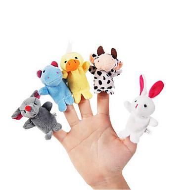 10pcs Set Cartoon Animal Plush Finger Puppets Kids Talk Prop Children Forest Favor Dolls