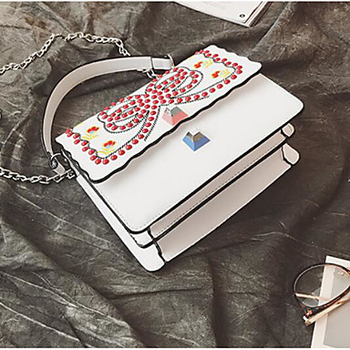 Women Bags All Seasons PU Clutch for Casual Outdoor White Black Blushing Pink